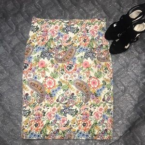 NWOT Paisley Floral Pencil Skirt